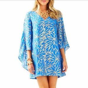 Lilly Pulitzer Miri Silk Caftan Cape Dress
